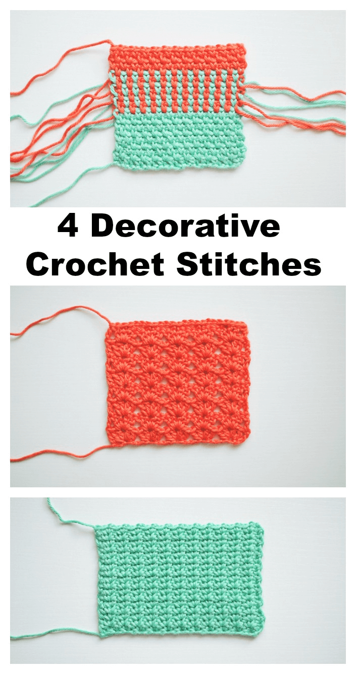 Free Decorative Crochet Stitches 4 Tutorials