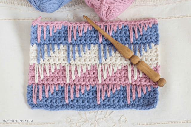 Crochet Spike Stitch Free Video Tutorial