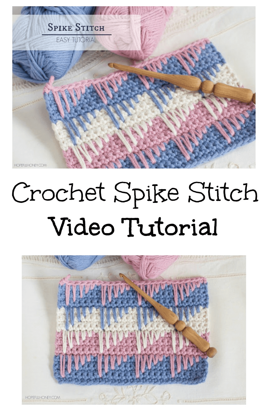 Free Crochet Spike Stitch Tutorial
