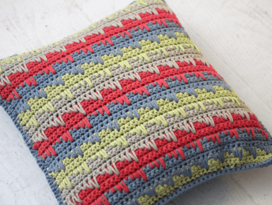 Spike Stitch Pillow