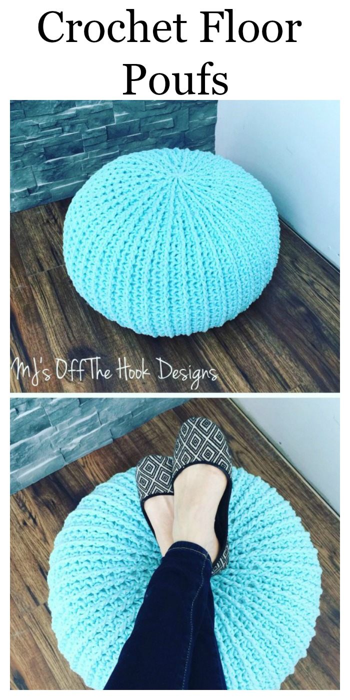 Crochet Floor Pouf - A Written Pattern And Video Tutorial!!