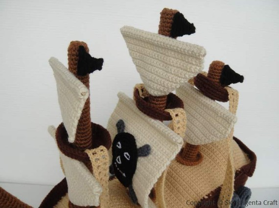 Amigurumi Pirate Ship Pattern