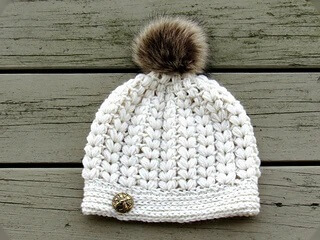 Pearl Puff Stitch Beanie By CrochetDreamz