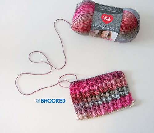 Crochet V Puff Stitch Swatch By Bhooked