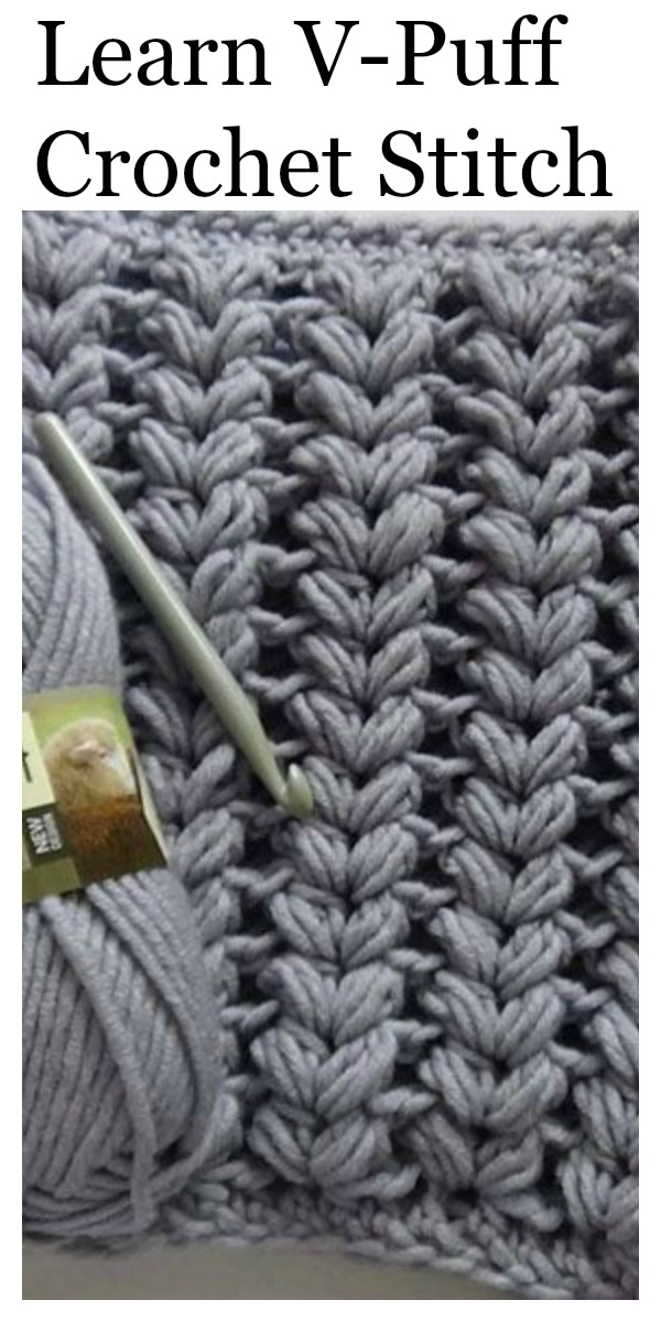 Crochet V Puff Stitch Free Video Tutorial