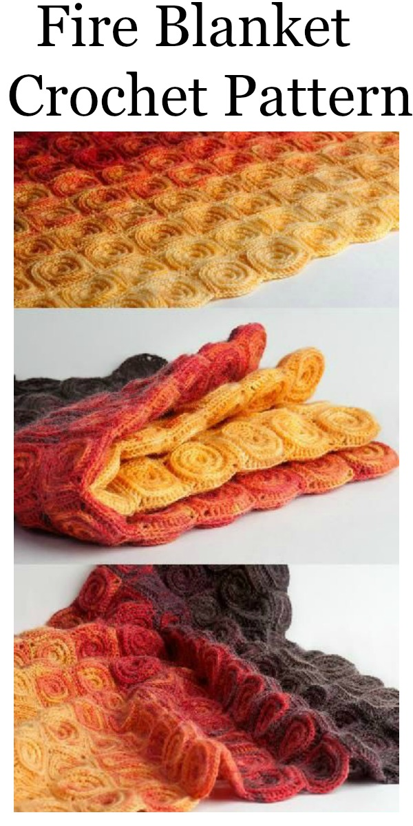 Fire Blanket Crochet Pattern Easy To Follow Step By Step