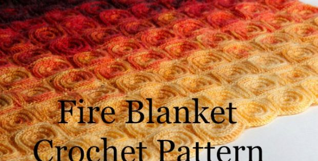 Fire Blanket Crochet Pattern- Crochet Blanket Patterns