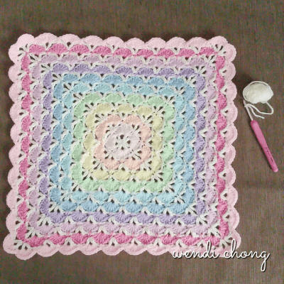 Crochet Shell Stitch Blanket