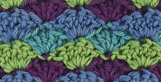 Crochet Shell Stitch Different Colors