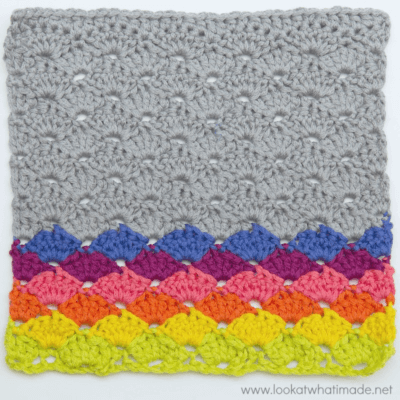 Crochet Shell Stitch Dishcloth Pattern Lookatwhatimade