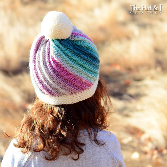 Crochet Rainbow Hat Pattern And Crochet Swirl Hat Pattern