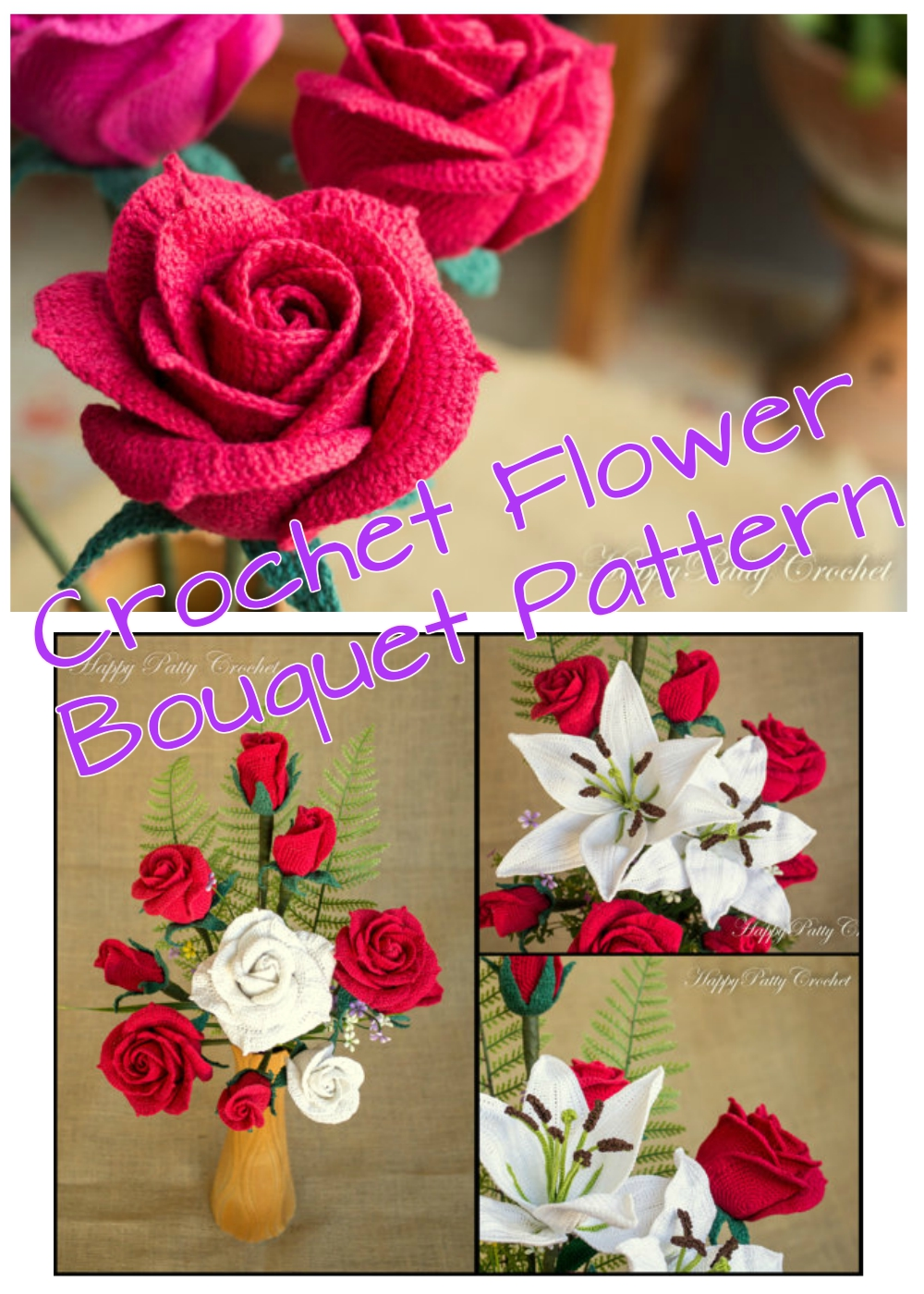 Perfect Crochet Flower Bouquet Pattern Ornament - Easy Scarf ...