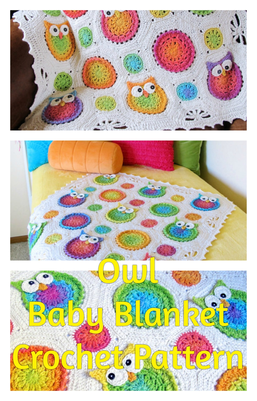 Owl Baby Blanket Crochet Pattern | Perfect Owl Loving Bedroom Accesory
