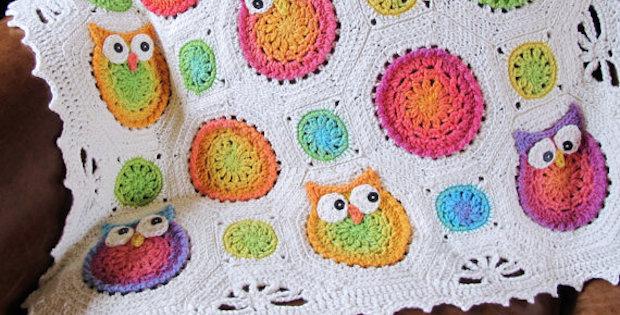 Owl Baby Blanket Crochet Pattern