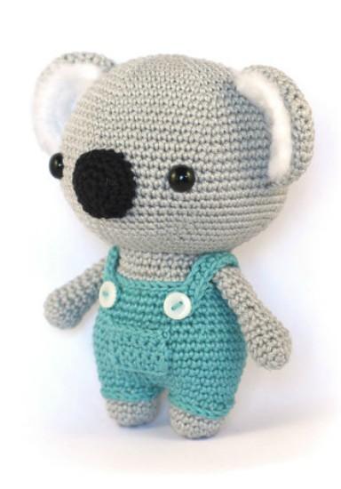 Amigurumi Koala Crochet Pattern Wearing A Dungaree Crochet News