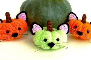 Crochet Halloween Pumpkin Kittens Pattern