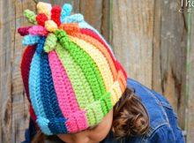 Crochet Rainbow Hat Pattern And Crochet Swirl Hat Pattern