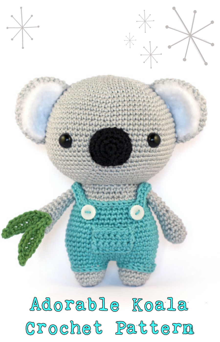 Amigurumi Koala Crochet Pattern Wearing A Dungaree Crochet News