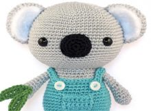 Adorable Koala Crochet Pattern Wearing A Dungaree