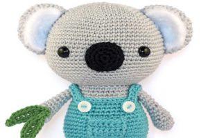 Adorable Koala Crochet Pattern Wearing A Dungaree