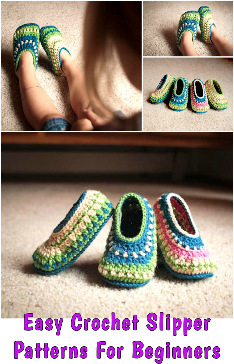 Easy Crochet Slipper Patterns For Beginners The Galilee Slipper