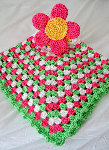 Spring Flower Crochet Lovey Pattern by Darice