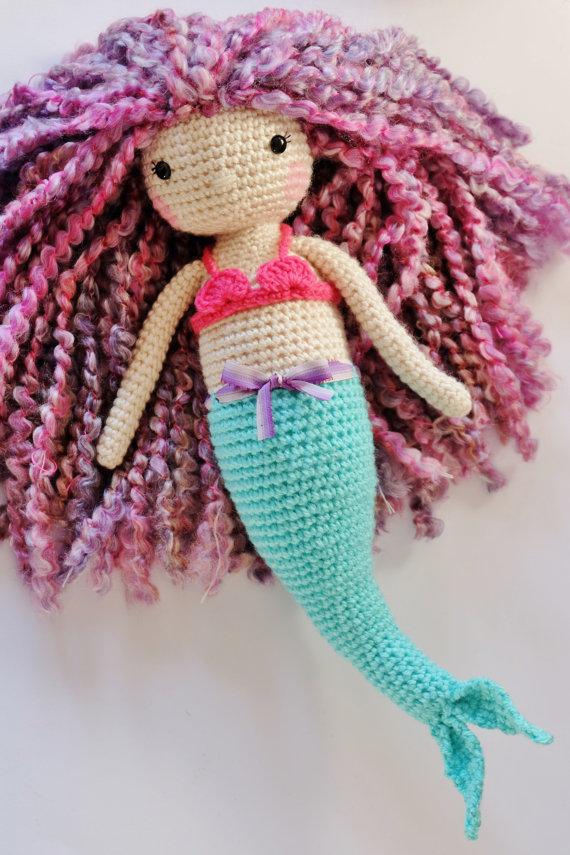 Crochet Mermaid Doll Pattern Tutorial