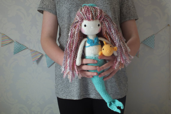 10 Crochet Amigurumi Mermaid Doll Patterns Free and Paid | 380x570