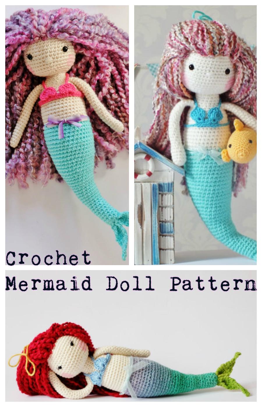 Crochet Mermaid Doll Pattern Tutorial Crochet News