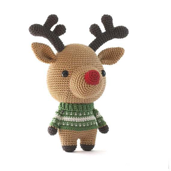 Adorable Reindeer Amigurumi Pattern - Cute Christmas Crochet
