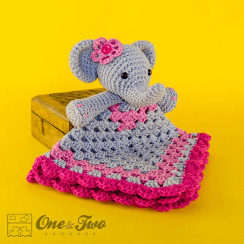 crochet elephant lovey