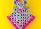 crochet lovey elephant