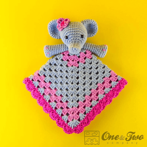 crochet lovey elephant