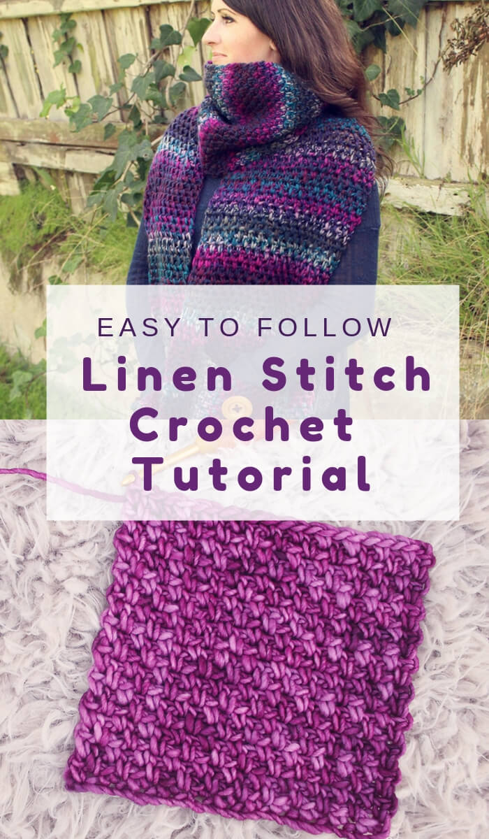 Free Crochet Linen Stitch Tutorial