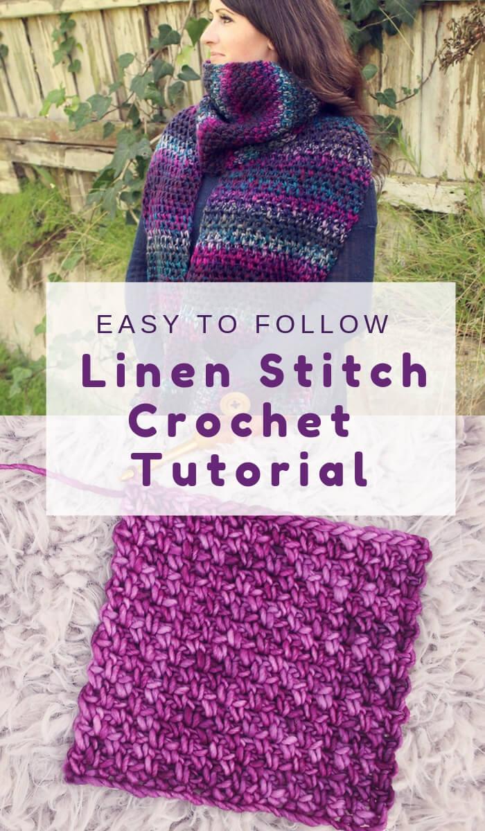Free Crochet Linen Stitch Tutorial