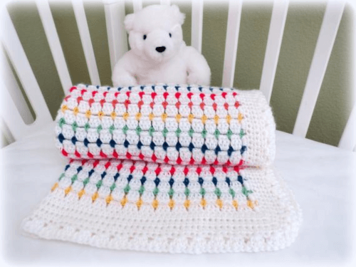 crochet block stitch blanket