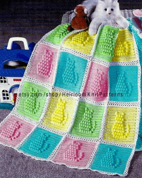 crochet popcorn stitch baby blanket