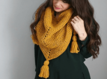 herringbone crochet stitch scarf