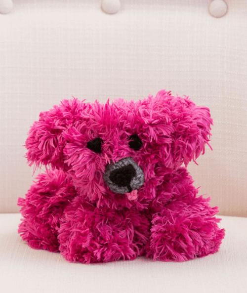crochet dog pattern pink