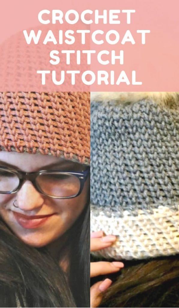 Free Crochet Waistcoat Stitch Tutorial