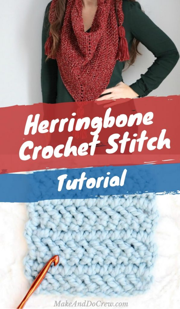 Free Herringbone Crochet Stitch Tutorial
