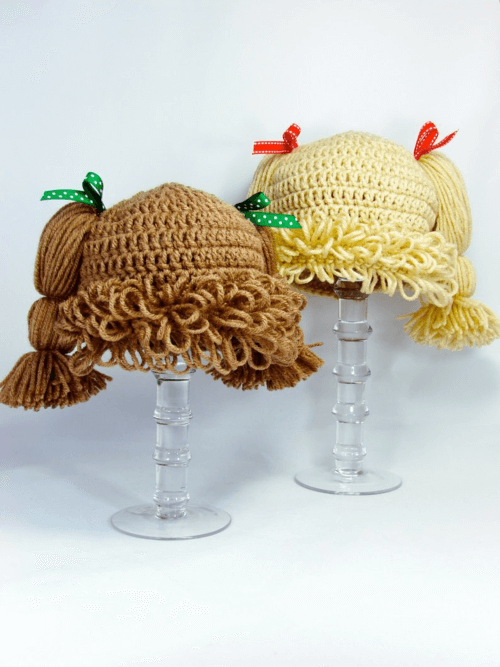 cute crochet cabbage patch wig pattern
