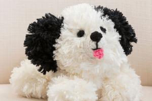 crochet dog pattern black and white