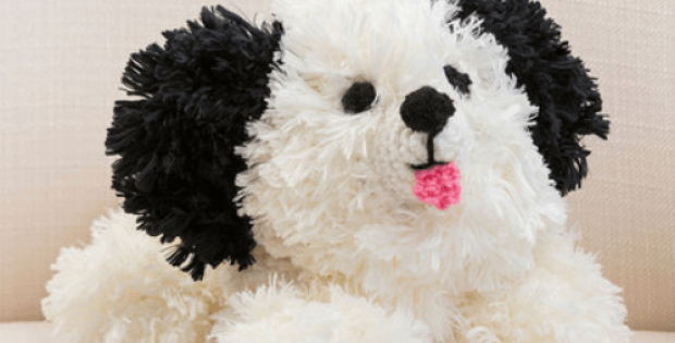 crochet dog pattern black and white