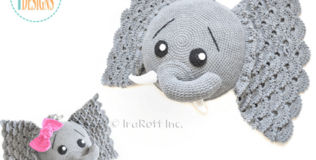 crochet elephant pillow Pattern