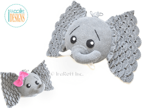 easy to follow crochet elephant pillow Pattern
