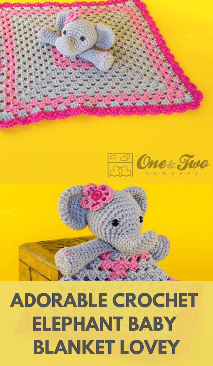 Crochet Elephant Lovey Pattern