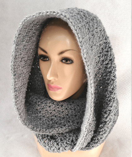 Blossom Stitch Hooded Cowl Crochet Pattern by Crochet N Crafts