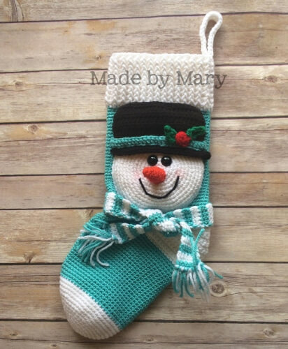 22-Snowman-Crochet-Christmas-Stocking-Pattern-Mary-Abbie-986