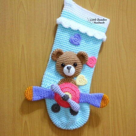 24-Bear-On-Aeroplane-Christmas-Stocking-Crochet-Pattern-Little-Bamboo-Handmade